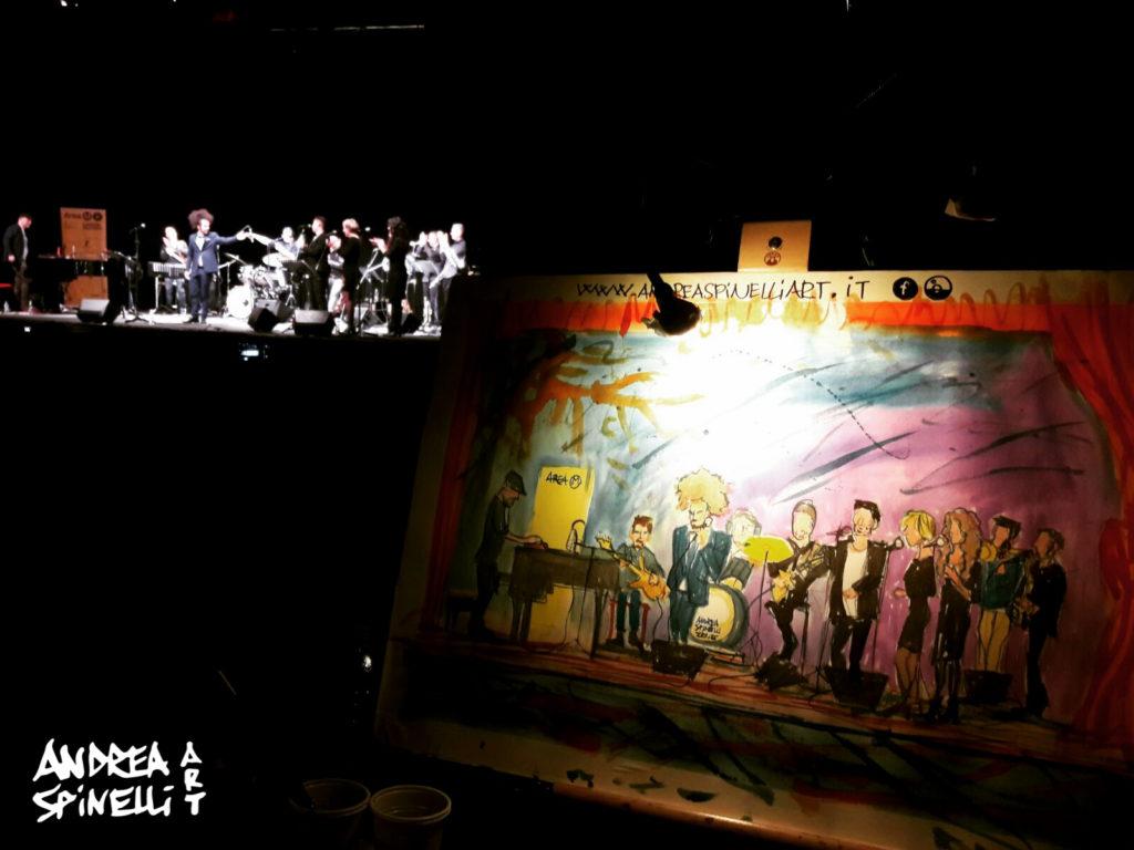 Davide Shorty live @Teatro Menotti di Milano ritratto dal vivo da Andrea Spinelli Art