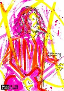 Lorenzo Castagna del Management Del Dolore Post Operatorio ritratto dal vivo da Andrea Spinelli Art per Nonsense Mag